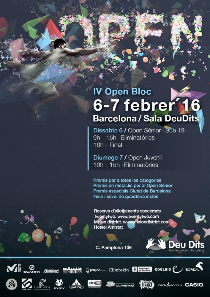 IV Open Bloc DeuDits en Barcelona @ Sala de escalada DeuDits | Barcelona | Catalunya | España