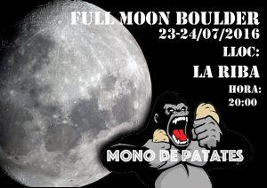 Encuentro escalada Full Moon Boulder Juliol @ Clot d'en Goda  | La Riba | Catalunya | España